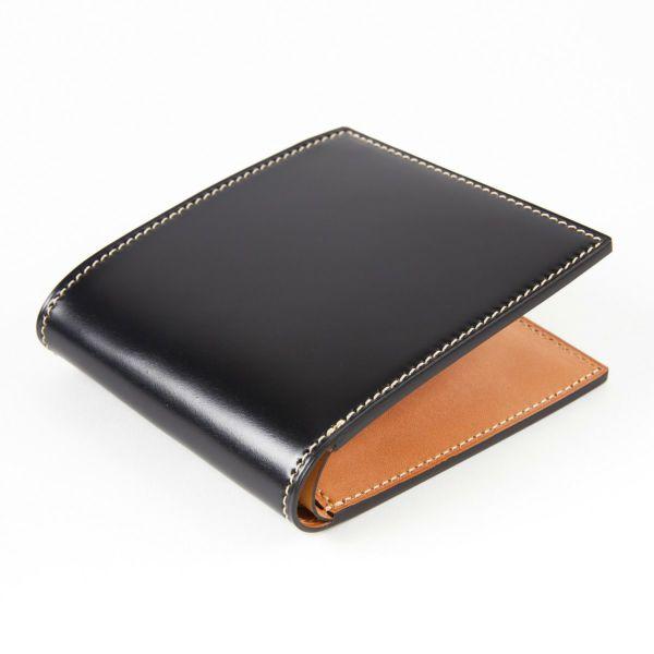 コードバン 二つ折り財布(小銭入無)