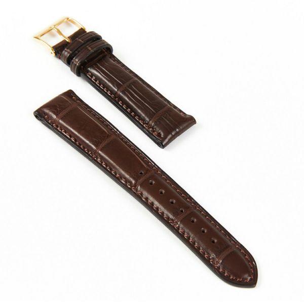 クロコダイル 腕時計ベルト 18mm
